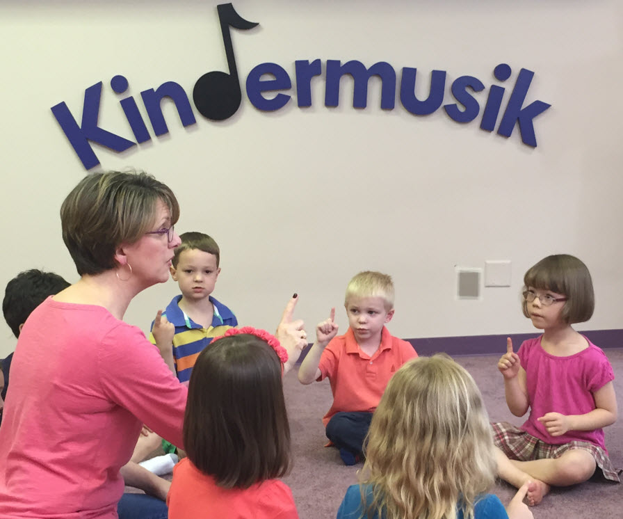 Kindermusik Educator with Class