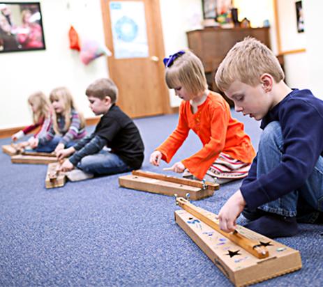 Kindermusik Kids with Box Guitars