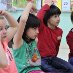 Children Participating in Kindermusik@School Class