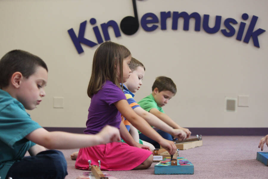 Older Children Playing Xylophones
