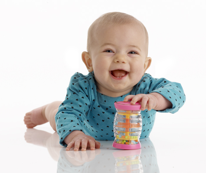 Babies Develop Fine Motor Skills Through Baby Safe Instruments