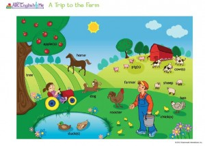 ABC English & Me - A Trip to the Farm - Educational Activity for Children