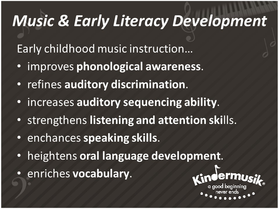 How early music instruction impacts early literacy development