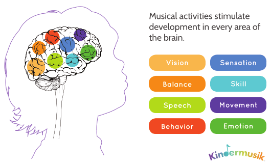 musical activities stimulate development in every area of the brain