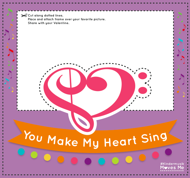 You Make My Heart Sing DIY Valentine's Day Frame