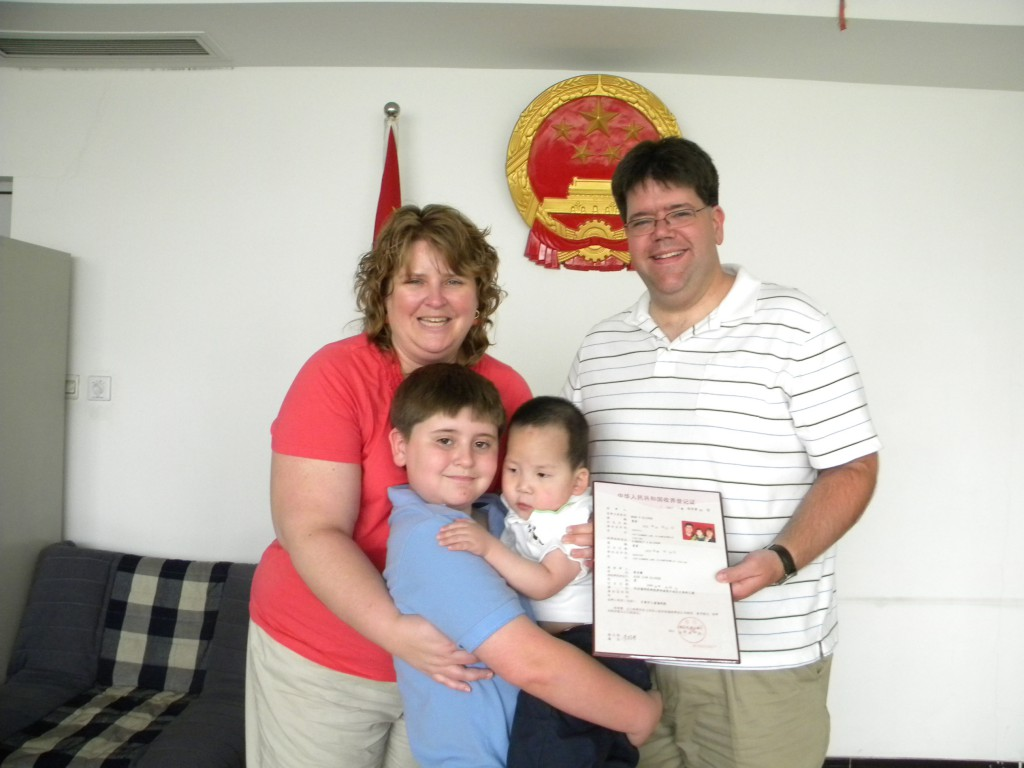The day Alex legally became a member of the Elicker family!